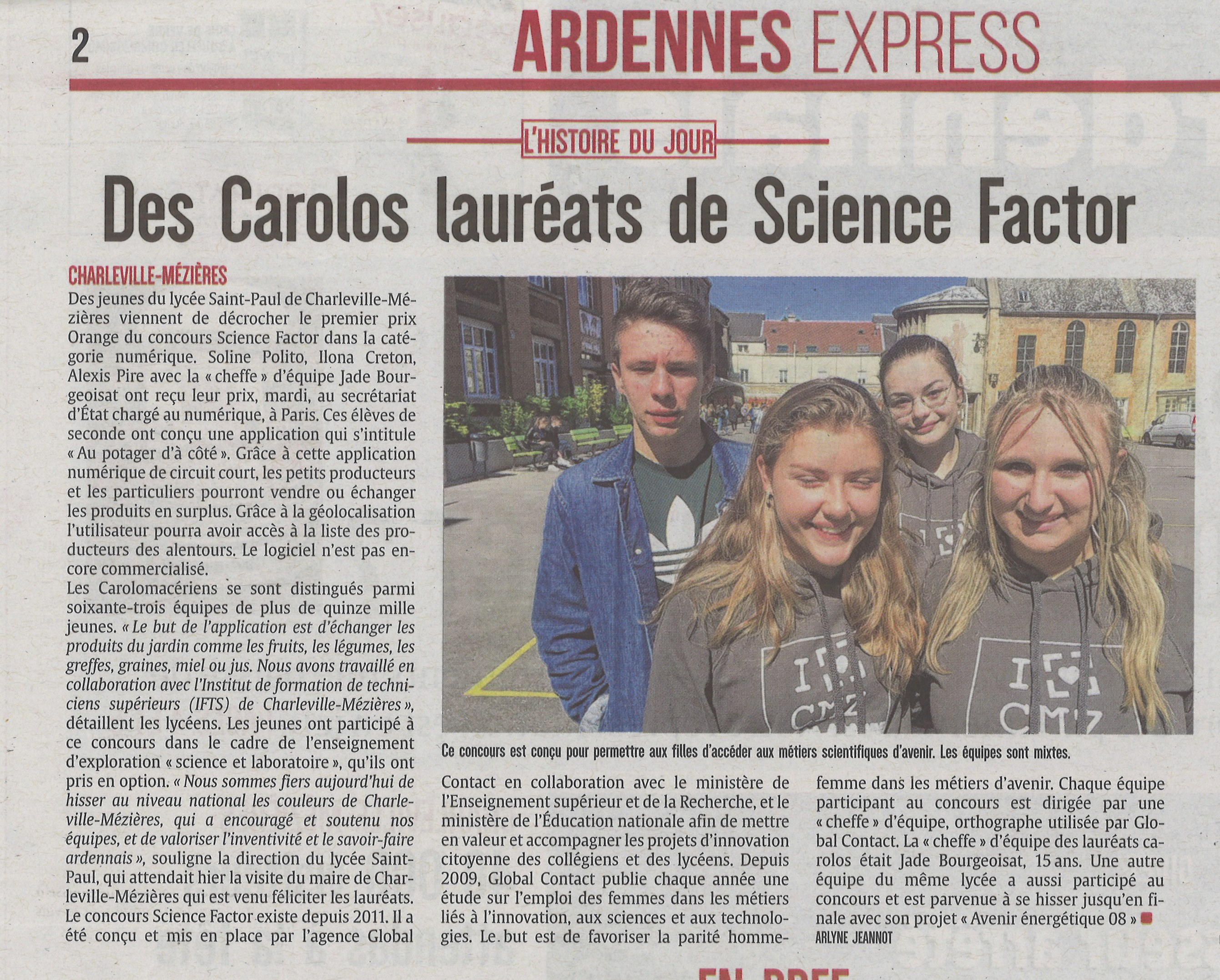 ARDENNAIS article Science Factor