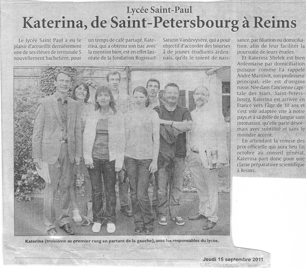 Katerina, de Saint-Petersbourg à Reims